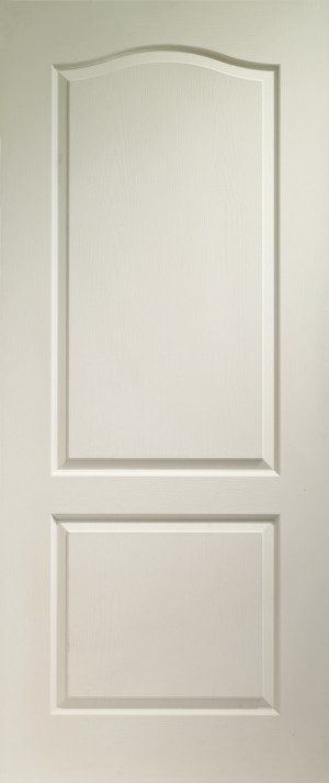 XL JOINERY DOORS -  WM2P30FD  Internal White Moulded Classique 2 Panel Fire Door   WM2P30FD