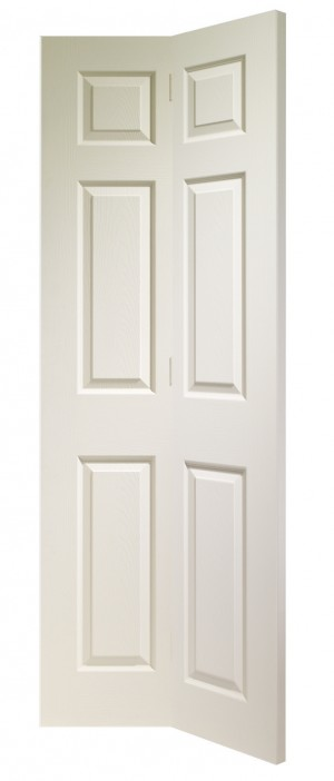 XL JOINERY DOORS -  WMBF6P30  Internal White Moulded Colonist 6 Panel Bi-Fold (30inch)  WMBF6P30