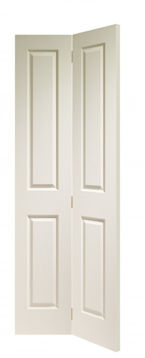 XL JOINERY DOORS -  WMBFVIC30  Internal White Moulded Victorian 4 Panel Bi-Fold  WMBFVIC30