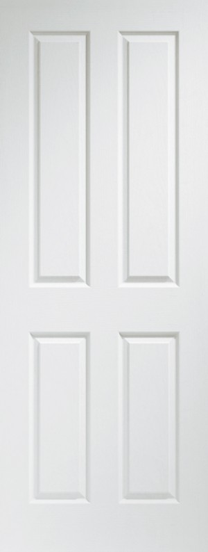 XL JOINERY DOORS -  WMPFVIC826  Internal Pre-finished White Moulded Victorian 4 Panel  WMPFVIC826