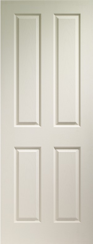XL JOINERY DOORS -  WMVIC28  Internal White Moulded Victorian 4 Panel  WMVIC28