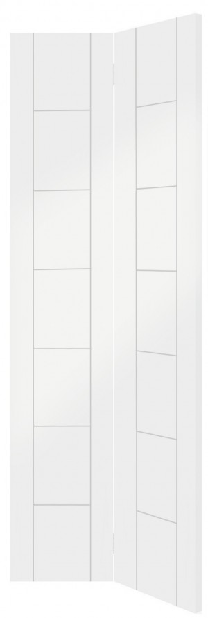 XL JOINERY DOORS -  WPBFPAL27 Internal White Primed Palermo Bi-Fold  WPBFPAL27