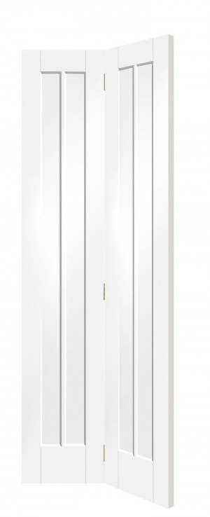 XL JOINERY DOORS -  WPBFWOR30 Internal White Primed Worcester Bi-Fold  WPBFWOR30