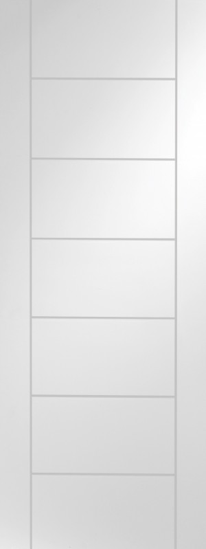 XL JOINERY DOORS -  WPPAL32-FD Internal White Primed Palermo Fire Door  WPPAL32-FD