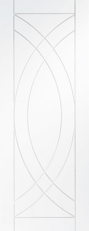 XL JOINERY DOORS -  WPTRE30  Internal White Primed Treviso  WPTRE30