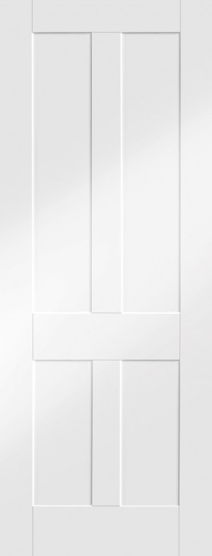 XL JOINERY DOORS -  WPVICSHA24  Internal White Primed Victorian Shaker  WPVICSHA24