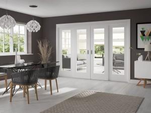 XL JOINERY DOORS -  WSLIDEF  White Sliding Door Frame - 2pcs (includes hardware kit)  WSLIDEF