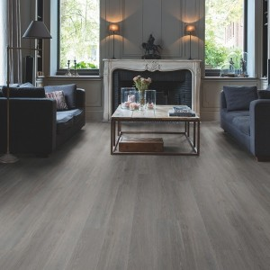 QUICK STEP VINYL FLOORING (LVT) Silk Oak Dark Grey  BACL40060
