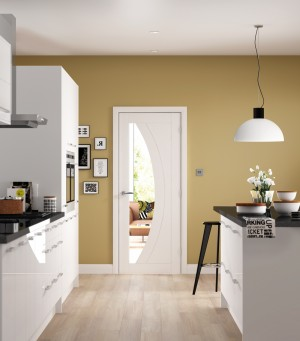 XL JOINERY DOORS -  WPSAL30-FD Internal White Primed Salerno Fire Door  WPSAL30-FD