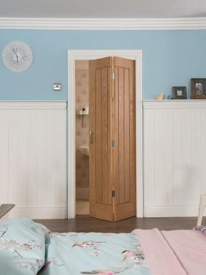 JELDWEN Oak Bi Fold Doors