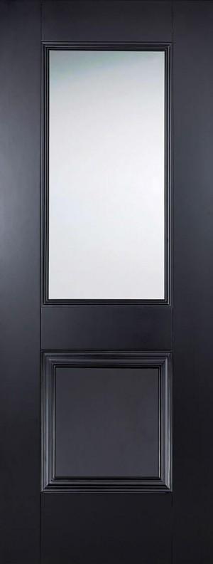 "LPD - Internal Door - Black Arnhem 1L 1981 x 838 (33"")  ARNBLAGL33"