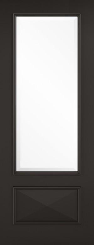 "LPD - Internal Door - Black Knightsbridge 1L 1981 x 686 (27"")  KNIBLACG27"