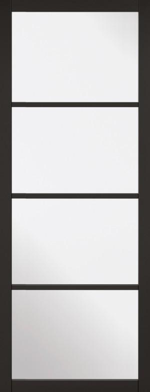 "LPD - Internal Door - Black Soho 4L 1981 x 686 (27"")  SOHBLA27"