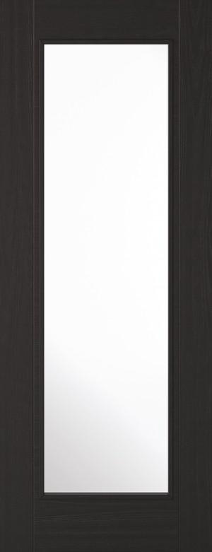 """LPD - Internal Door - Charcoal Black Vancouver 1L 1981 x 686 (27"""")  VANBLA4L27"""