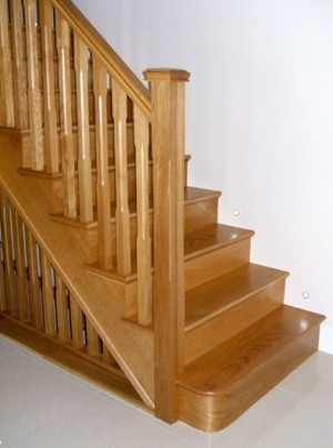 Pear Stairs - Blower White Oak Staircase (105)