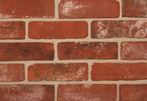Imperial Brick Reclamation Weathered Soft Red Brick Slip