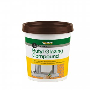 SikaEverbuild 102 Butyl Glazing Compound 2kg Brown [EVBUTGC2]