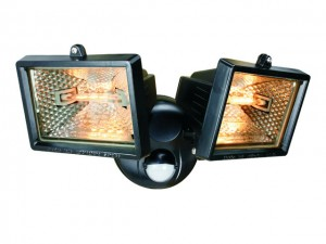 Twin Halogen Floodlights with PIR