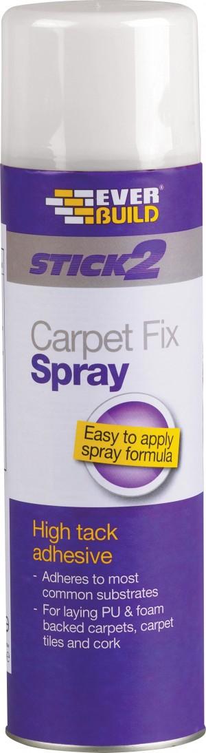 SikaEverbuild Stick2 Carpet Fix Spray Adhesive 500ml [EVBCARPSPRAY5]