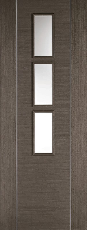 "LPD - Internal Door - Chocolate Grey Alcaraz Glazed 3L 1981 x 762 (30"")  CHGALCGL30"