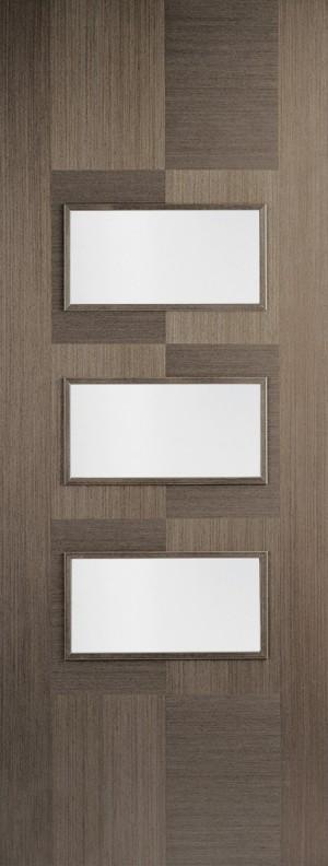 "LPD - Internal Door - Chocolate Grey Apollo Glazed 3L 1981 x 686 (27"")  CHGAPOGL27"