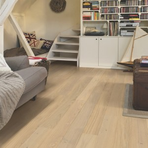 QUICK STEP WOOD FLOORING Oak Cotton White Matt  COM1451