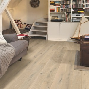 QUICK STEP WOOD FLOORING Oak Himalayan White Extra Matt