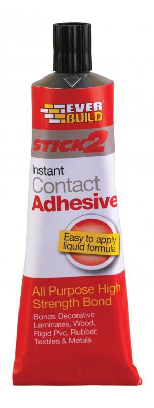 SikaEverbuild Stick2 All Purpose Contact Adhesive 125ml Beige [EVBCON125]