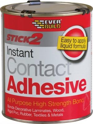 SikaEverbuild Stick2 All Purpose Contact Adhesive 750ml Beige [EVBCON750]