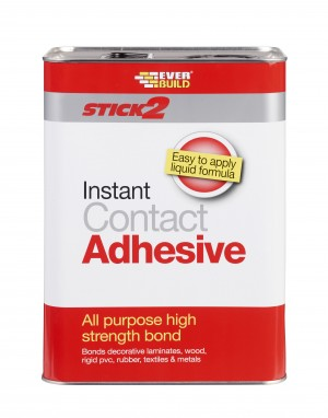 SikaEverbuild Stick2 All Purpose Contact Adhesive 5L Beige [EVBCONA5]