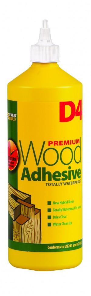SikaEverbuild D4 Wood Adhesive 1L White [EVBD41]