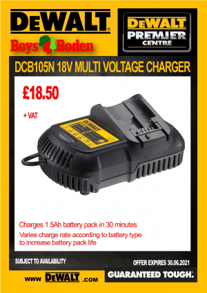 DeWalt DCB105N 18V Multi Voltage Charger