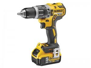 DeWalt 18V DCD796P1 2Speed B/Less Combi Drill 1x5A Power Tool  DEWDCD796P1