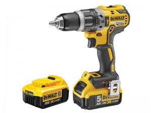DeWalt 18V DCD796P2 XR 2 Speed B/less Drill 2x5Ah Power Tool  DEWDCD796P2GB