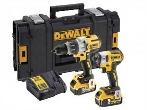 DEWALT 18V DCK276P2 XRP Prem Twin Pack 2x5AH Power Tool  DEWDCK276P2