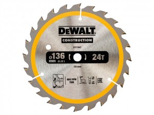 Cordless Construction Circular Saw Blade  DEWDT1947QZ