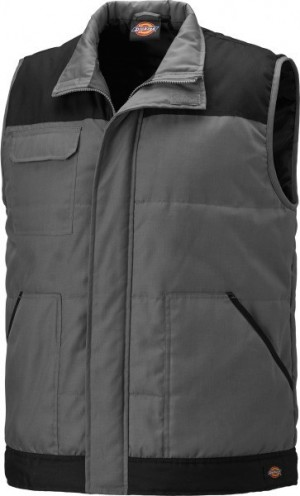 DICKIES BW247 EVERYDAY BODYWARMER GREY BLACK  BW24/7GYB