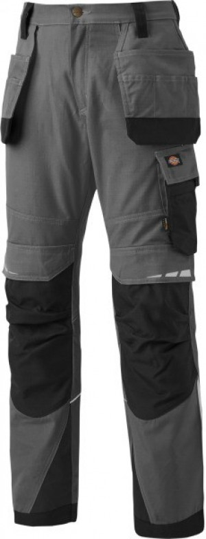 DICKIES DP1005R PRO TROUSER GREY BLACK  P1005RG