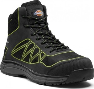 DICKIES FC9526 PHOENIX SAFETY BOOT BLACK LIME  FC9526BK