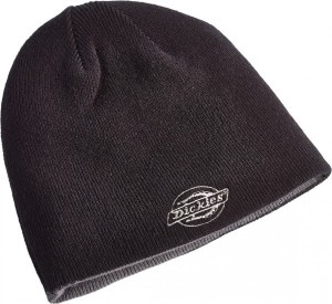 DICKIES HA8015 Reversible Printed Beanie Black Grey  :HA8015BGY