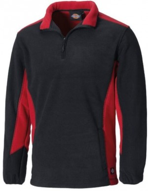 DICKIES JW7011 TWO TONE MICRO FLEECE BLACK RED  JW7011RDB