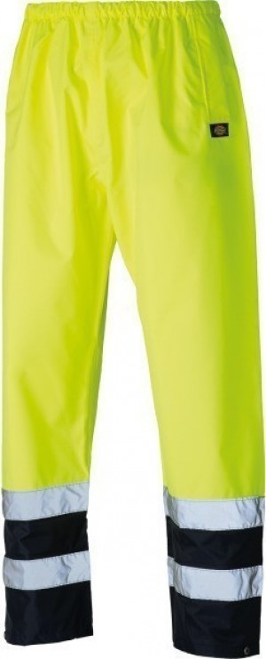 DICKIES SA1003 HI-VIS TWO TONE TROUSER YELLOW  SA1003YL