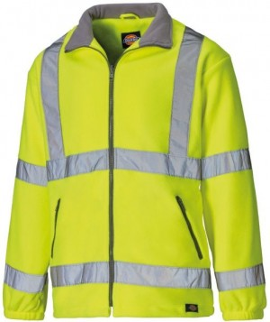 DICKIES SA22032 Hi-Vis Lined Fleece Jacket - XXL  :SA22032YLXXL