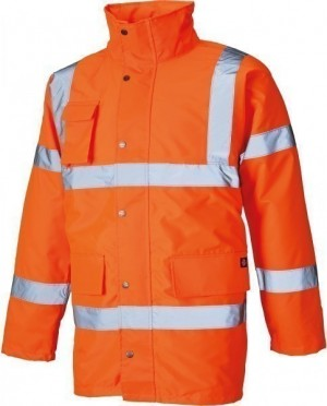 DICKIES SA22045 Hi-Vis Motorway Jacket ORANGE -XXL  :SA22045ORXXL