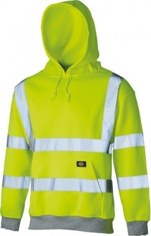 DICKIES SA22090 Hi-Vis Hooded Sweatert Yellow -XXL  :SA22090YLXXL