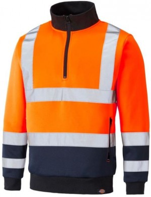 DICKIES SA22092 TWO TONE HI-VIS SWEAT ORANGE  SA22092OR