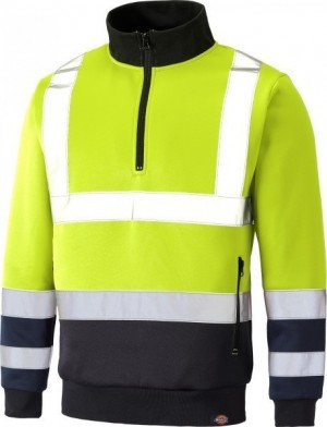 DICKIES SA22092 TWO TONE HI-VIS SWEAT YELLOW  SA22092YL