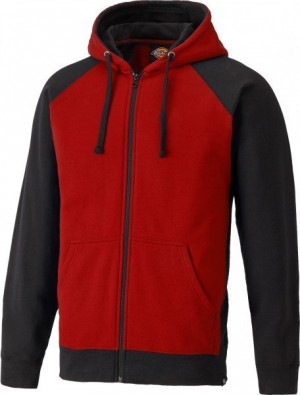 DICKIES SH3009 TWO TONE HOODIE RED BLACK  SH3009RD