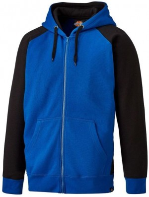DICKIES SH3009 TWO TONE ZIPPED HOODIE ROYAL BLACK  SH3009RB
