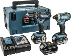 MAKITA 18V DLX2131JX1 LXT 2Pc Combi Kit Power Tool  MAKDLX2131JX1